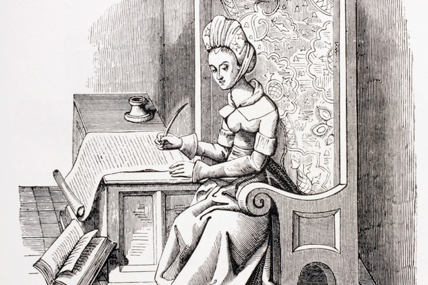 The Italian-French poet and campaigner for women's rights, Christine de Pizan (1364–c1430). (Photo by Universal History Archive/UIG via Getty Images)