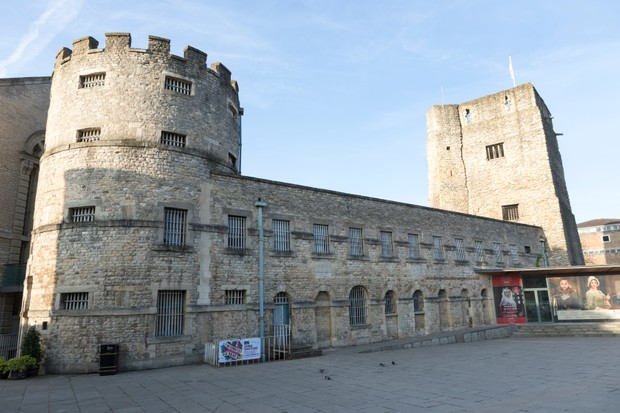 Oxford Castle, a Norman medieval castle that once housed the 17th-century rebel John Lilburne. (Photo by Getty Images)