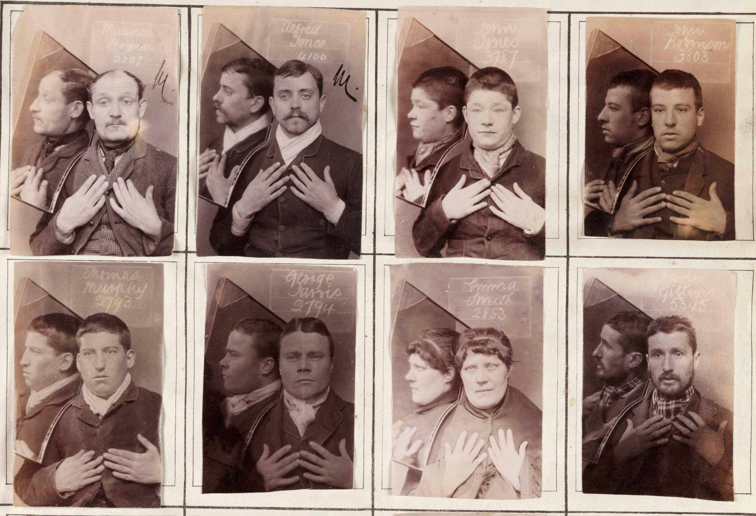 Rogues' gallery: Images of criminals incarcerated in prisons including Wormwood Scrubs and Newcastle City Gaol, in the late 19th and early 20th centuries. Their crimes included stealing clothes, money, boots, and leather. Recent research into Victorian mugshot books – and increasing digital access to court and prison records – offers a different picture of Victorian criminality to the one painted by writers such as Charles Dickens, argues Heather Shore. (Photo by SSPL/Getty Images)