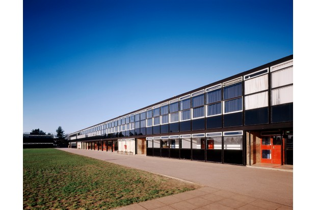 Smithdon High School, Hunstanton, Norfolk, designed by Alison and Peter Smithson. (Photo by Sarah Duncan/Construction Photography/Avalon/Getty Images)