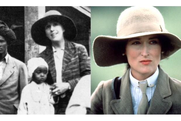 Danish author Isak Dinesen (real name, Karen Blixen) wrote about her experiences running a coffee plantation in Kenya and was played in Out of Africa by Meryl Streep. (Photo by © Hulton-Deutsch Collection/CORBIS/Corbis via Getty Images | Sunset Boulevard/Corbis via Getty Images)