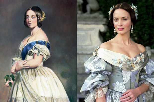 'The Young Victoria' follows the early relationship of Victoria and her beloved Prince Albert. The monarch was played by Emily Blunt in the 2009 film. (Images by Bettmann/Getty Images/Alamy)