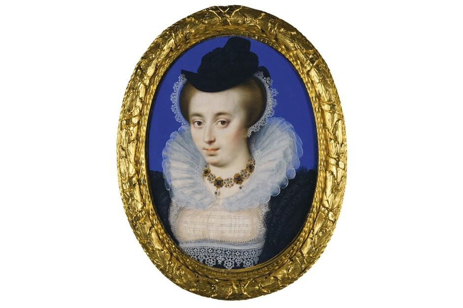 Unknown Woman Wearing a Hat by Isaac Oliver, c.1590-5. Features in Elizabethan Treasures: Miniatures by Hilliard and Oliver, at the National Portrait Gallery from 21 February 2019 to 19 May 2019. (Royal Collection Trust / © Her Majesty the Queen Elizabeth II 2019)