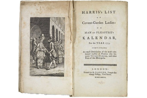 'Harris's List of Covent Garden Ladies' was published annually and detailed the address, appearance, tariff, and skill sets of more than 120 women selling sex in and around the Convent Garden area of London. (Public domain)
