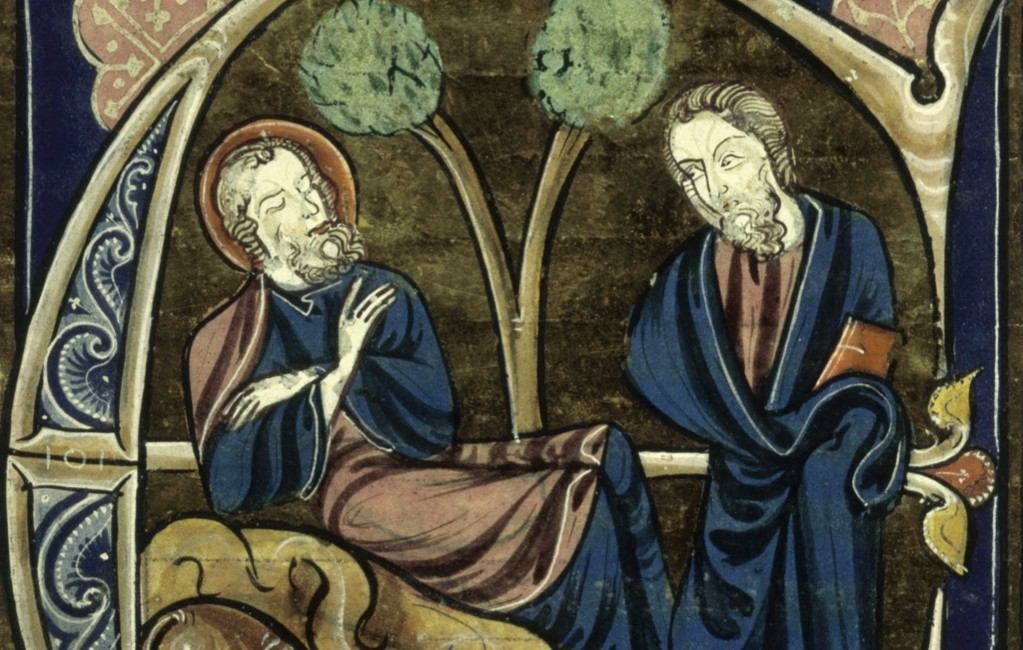 Though green dominates the celebrations today, the colour blue was first associated with St Patrick. The earliest depictions of the saint show him in blue garments, as in this 13th century folio, La Vie des Sains. ( Image ©The British Library Board/Leemage / Bridgeman Images)