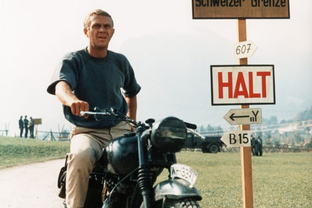Steve McQueen stars in the 1963 film that turned the 'Great Escape' into a symbol of Allied pluck and ingenuity. (Image by Alamy)