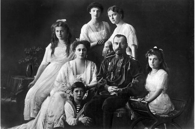 Tsar Nicholas II photographed with his family, c1913. (Photo by Mondadori Portfolio via Getty Images)