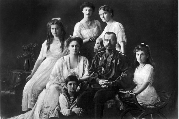 Tsar Nicholas II photographed with his family, c1913. (Photo by Mondadori Portfolio via Getty Images)