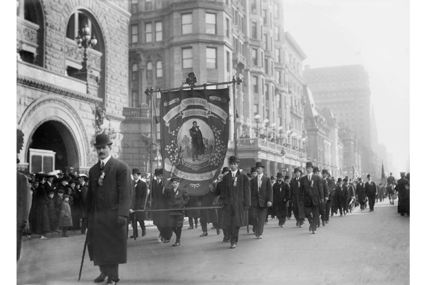 A St Patrick's Day parade on Fifth Avenue, New York City, in 1909. (Photo by Universal History Archive/UIG via Getty Images)