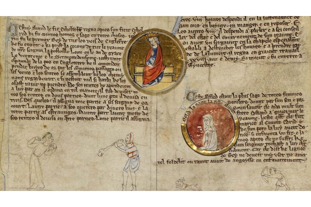 Alfred the Great and Æthelflæd, 13th century.