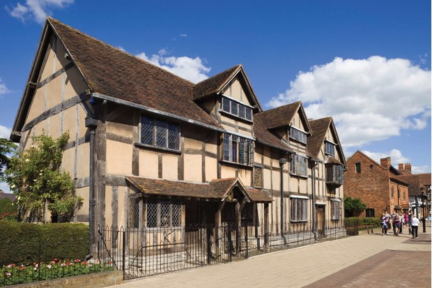 Shakespeare's birthplace on Henley Street in Stratford-upon-Avon