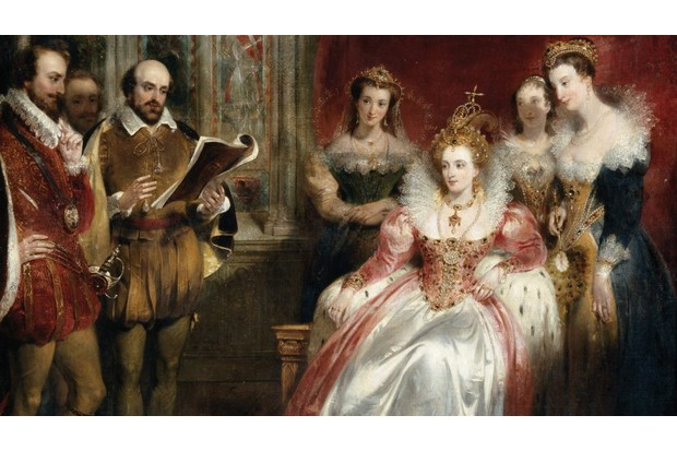 Shakespeare reading to Queen Elizabeth I, by John James Chalon