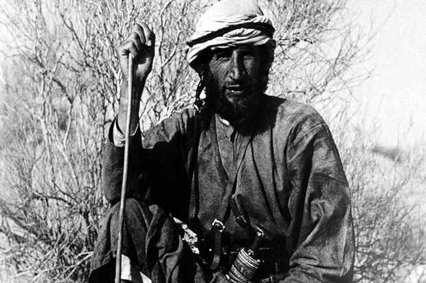 "Wilfred Thesiger in Oman, c1946. ""He was able to cope without sleep, and aI don't think he knew pain,"" says Frank Gardner. (Image by Bridgeman)"