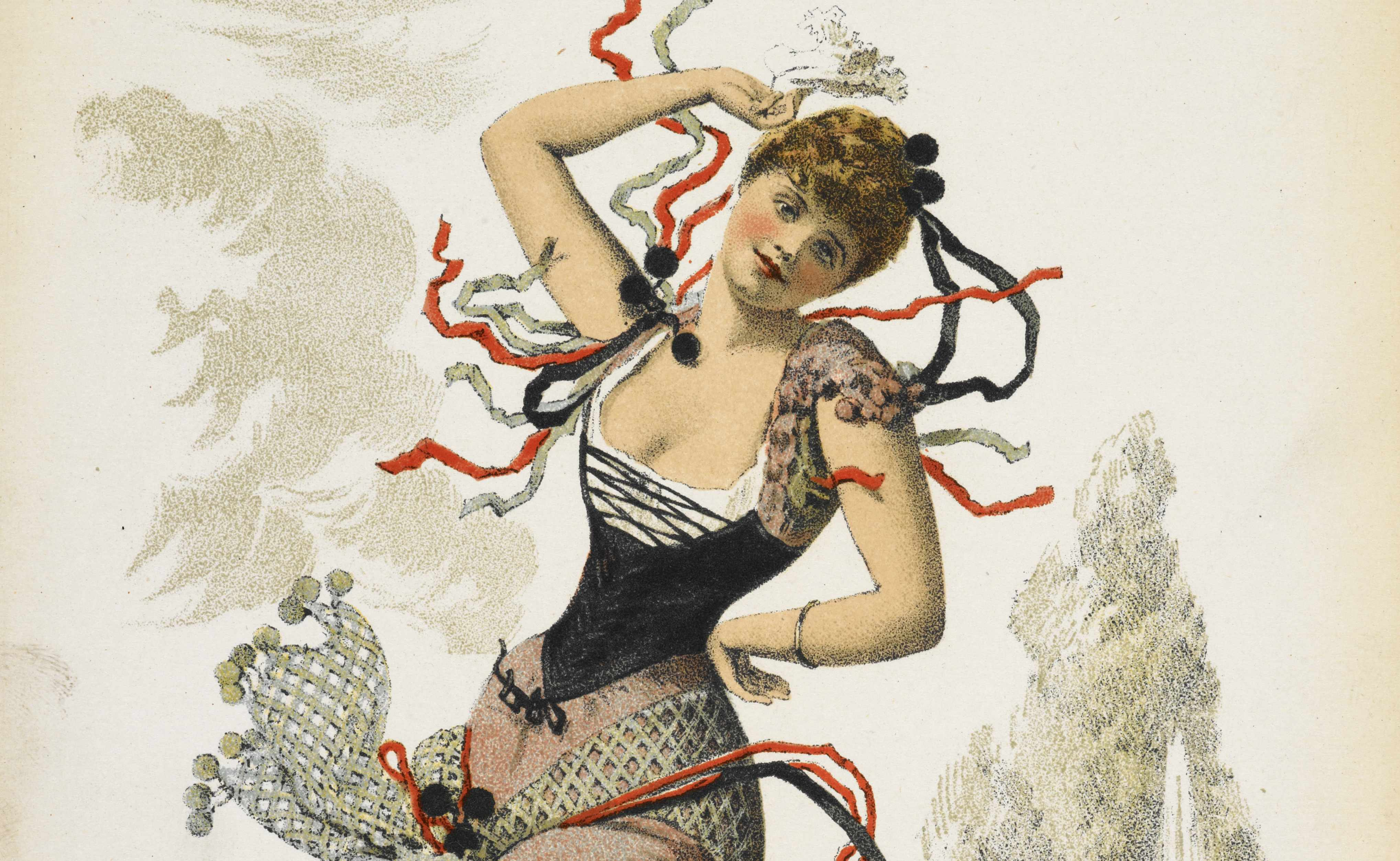 A souvenir for a burlesque adaptation of the classic opera 'Carmen' at the Gaiety Theatre, 1890. (Image by Bridgeman)