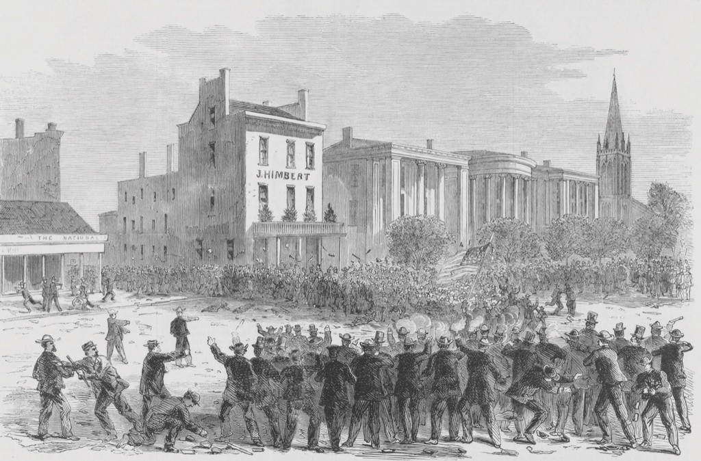 Violence erupted in New Orleans, and white southerners killed and injured more than 100 freed slaves during a riot against reconstruction plans. (Image by Alamy)