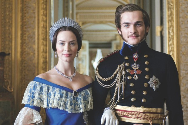 The chemistry between Emily Blunt (Victoria) and Rupert Friend (Albert) is palpable in the 2009 biopic. (Image by Alamy)