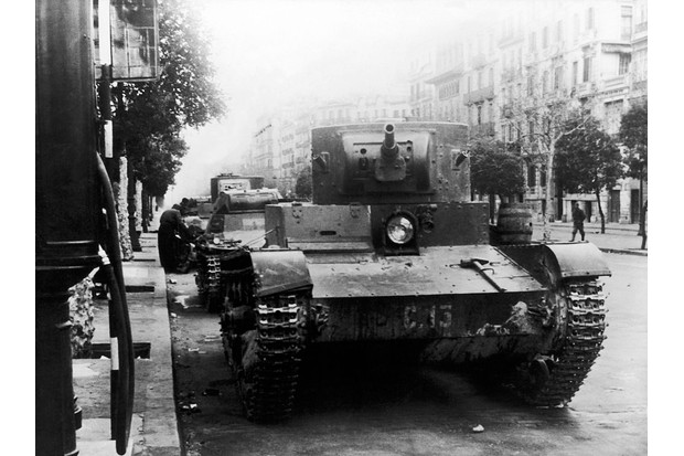 Francoist troops enter Barcelona, 1939. (Photo by Keystone-France/Gamma-Keystone via Getty Images)
