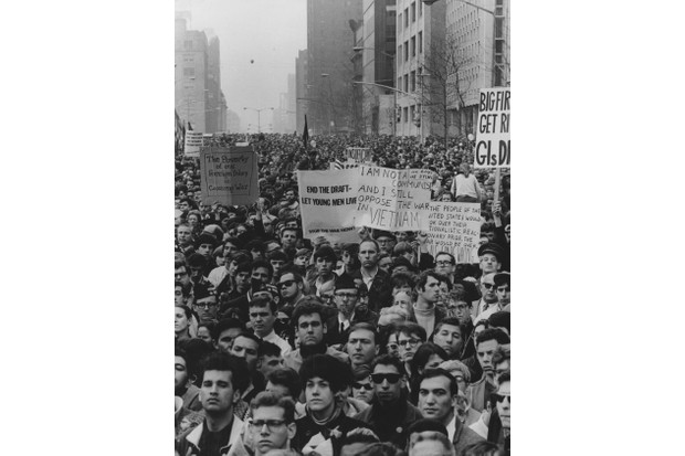 Several thousand demonstrators protesting against the Vietnam War at a rally in New York. (Photo by Keystone/Getty Images)