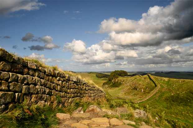 Hardian's Wall, a world heritage site. (Photo by Getty Images)