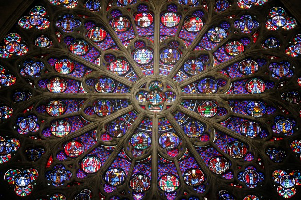 Notre-Dame's south rose window. (Photo by Godong/UIG via Getty Images)