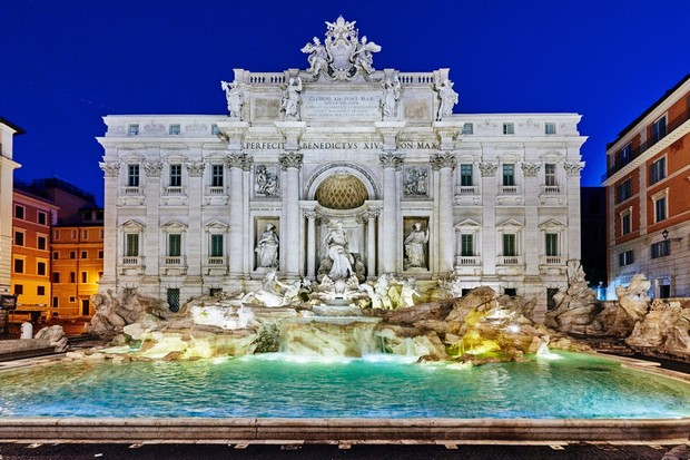 The photogenic Trevi Fountain is a highlight of most visits to Rome. (Image by Getty Images)