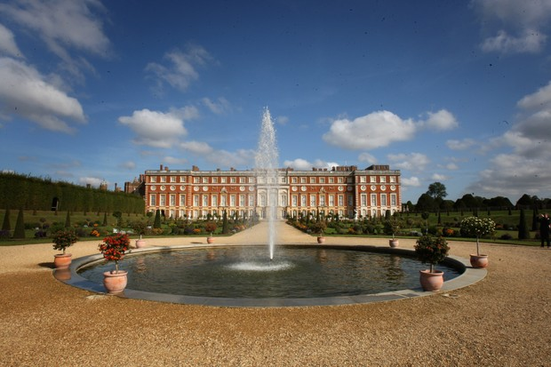 Hampton Court Palace, which owes its origins to Henry VIII's imposing favourite Cardinal Wolsey, who commissioned the building in 1515. (Photo by Chris Jackson/Getty Images)