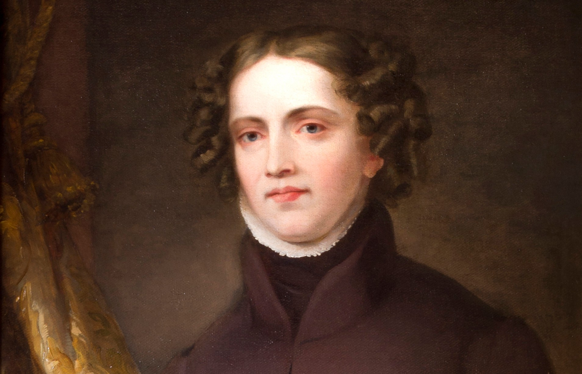 3822353 Anne Lister of Shibden Hall (oil on canvas) by Horner, Joshua (1812-84) (attr.to); 74x61 cm; Calderdale Museums Service, West Yorkshire, UK; (add.info.: Anne Lister (1791–1840) was a diarist, mountaineer, traveller and wealthy landowner of Shibden Hall, Yorkshire. ); British,  out of copyright.