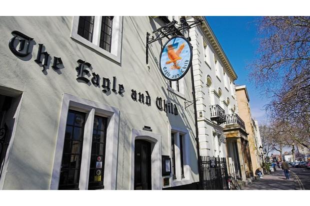 The Eagle and Child pub in Oxford