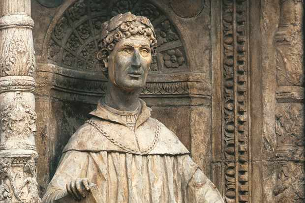In his native Como, Pliny the Younger's fame is reflected in his statue on the city cathedral's imposing west front, which was built in the 15th century. (Image by AKG Images)