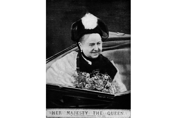 Queen Victoria, c1890s, in an open carriage on the Isle of Wight. From 'Bibby's Annual 1922'. (Photo by The Print Collector/Getty Images)