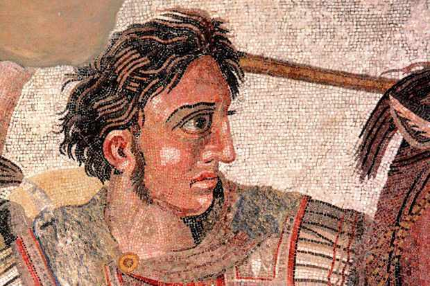 The 'Alexander Mosaic' showing Alexander the Great