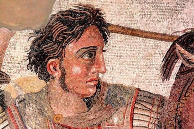 A fragment from the 'Alexander Mosaic', c100 BC, showing Alexander the Great in battle against the Persian king Darius III. (Photo by: Universal History Archive/UIG via Getty Images)