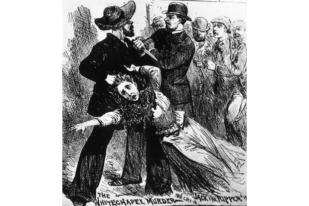 A 19th-century engraving depicting Jack The Ripper. (Photo by Hulton Archive/Getty Images)