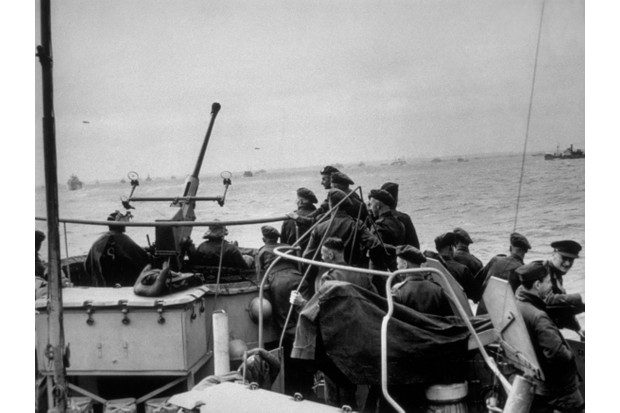 British troops on their way to Normandy to take part in the D-Day landings. (Photo by Keystone/Getty Images)