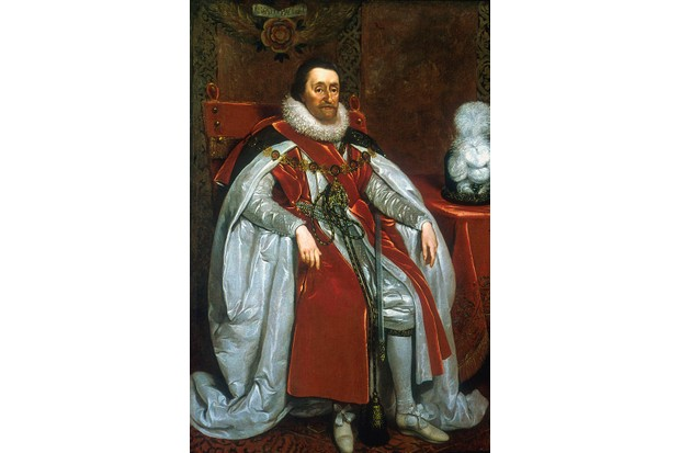 James I, king of England and Scotland, bore a great aversion to water and reportedly never bathed. (Photo by Ann Ronan Pictures/Print Collector/Getty Images)