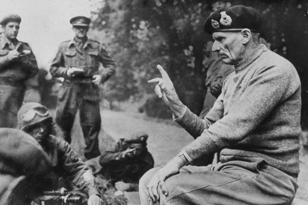Holding court: Bernard Montgomery briefs reporters on progress in France, 1944. (Photo by Cynthia Johnson/The LIFE Images Collection/Getty Images)