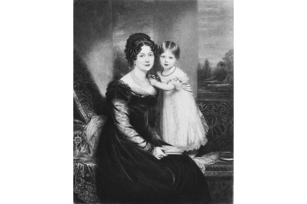 Victoria, Princess Royal (1819 - 1901), later to reign as Queen Victoria, with her mother, Victoria Maria Louise, Duchess of Kent (1786 - 1861), circa 1822. (Photo by Kean Collection/Getty Images)