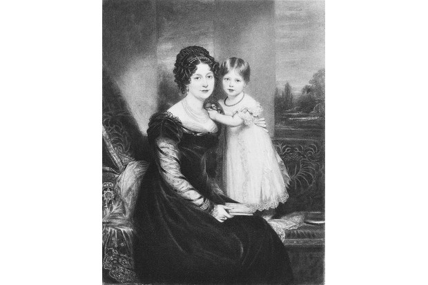 "The young Victoria with her mother, Victoire, Duchess of Kent, in an 1821 portrait by William Beechey. ""My greatest of fears was that I loved her too much,"" said Victoire. (Photo by Kean Collection/Getty Images)"