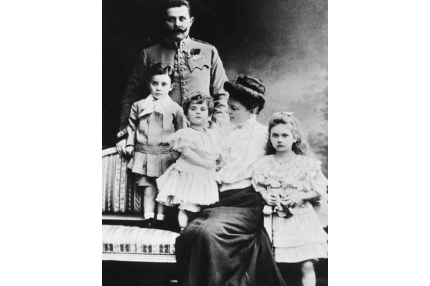 A portrait of Archduke Franz Ferdinand of Austria with his wife, Sophie, and children (L-R) Maximilien, Ernst and Sophie, c1895. The couple had a 'morganatic marriage'. (Photo by Keystone/Hulton Archive/Getty Images)