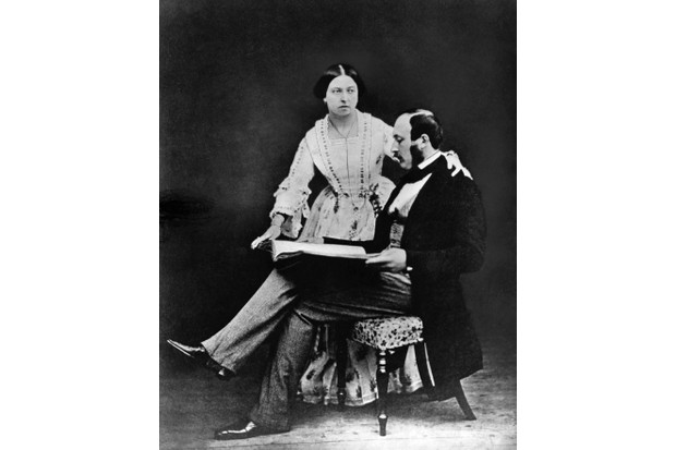 Queen Victoria with her husband, Prince Albert, c1854. (Photo by © Hulton-Deutsch Collection/CORBIS/Corbis via Getty Images)