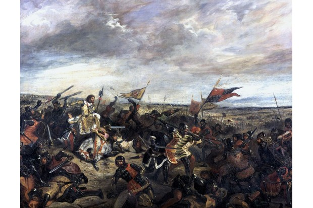 Edward the Black Prince had captured the French king Jean II at the battle of Poitiers, depicted here. (Photo by: Photo 12/UIG via Getty Images)
