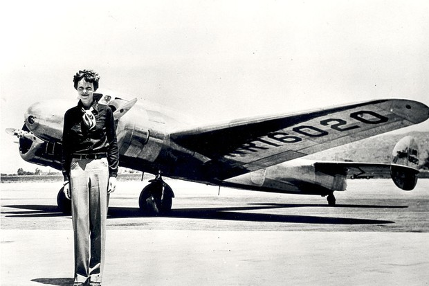 In 1937, Amelia Earhart, one of the world's most famous aviators, apparently disappeared without a trace during an attempt to circumnavigate the globe. (Photo by SSPL/Getty Images)