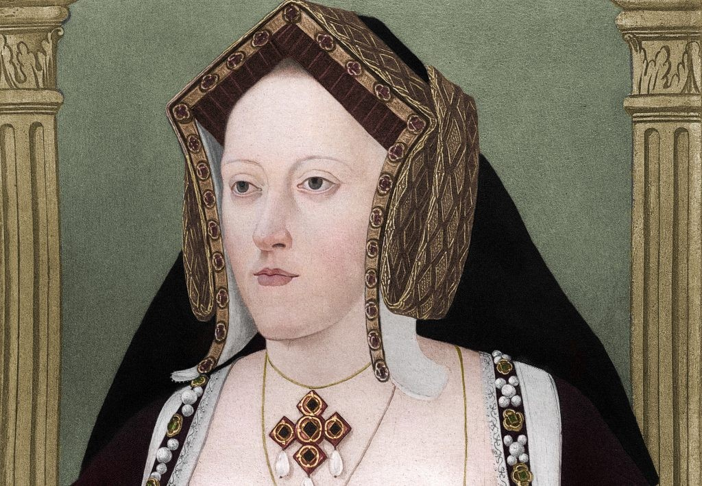 A portrait of Catherine of Aragon, Henry VIII's first wife. Henry and Catherine's marriage was a happy one, until their failure to produce a male heir began to cast a long shadow. (Photo by The Print Collector/Getty Images)