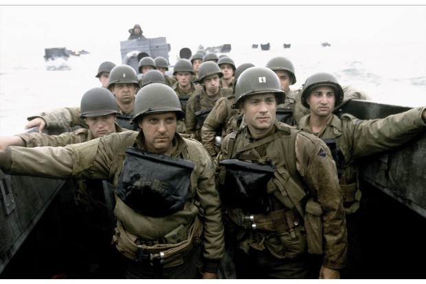 A still from the 1998 film 'Saving Private Ryan' starring Tom Hanks (front-right). (Photo by Allstar Picture Library/Alamy Stock Photo)