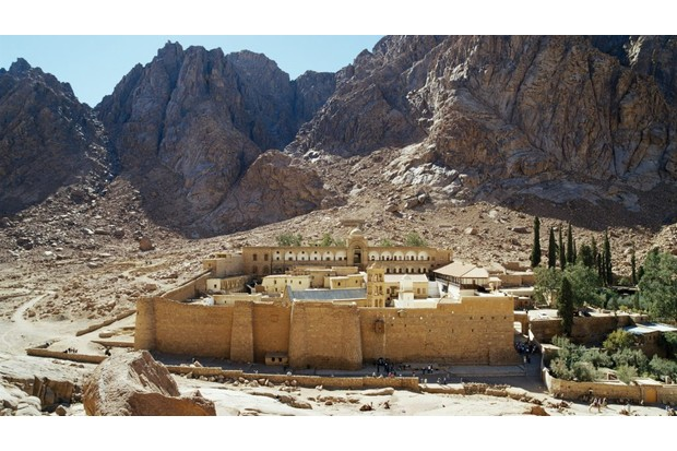 St Catherine's Monastery in the shadow of Mount Sinai