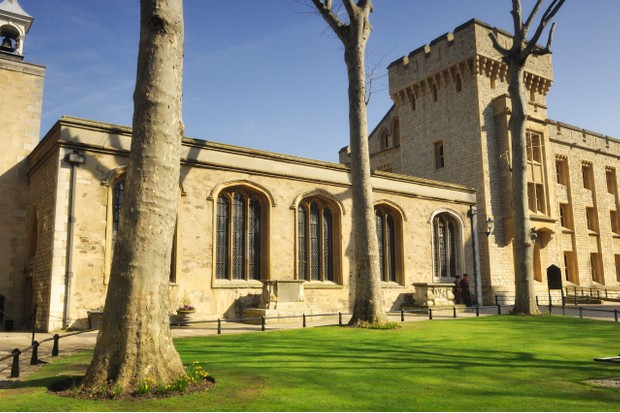 The Chapel of St Peter ad Vincula, the parish church of the Tower of London, where Anne Boleyn is buried. (Photo by Peter Carroll/Alamy Stock Photo)