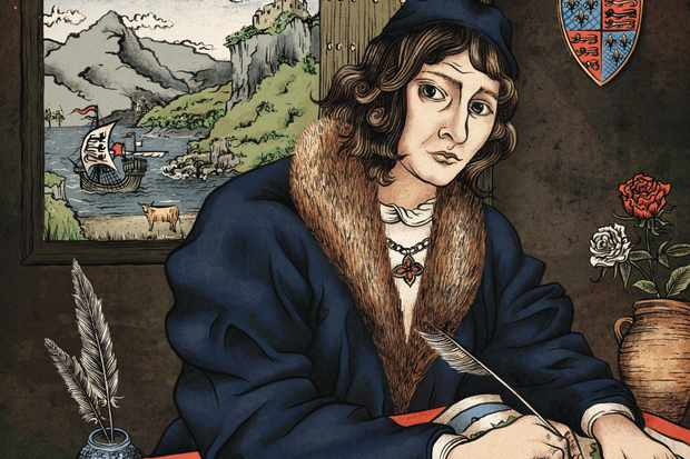 John Hardyng, a royal spy and cartographer who witnessed some of the 15th century's most extraordinary events. (Illustration by Sue Gent for BBC History Magazine)