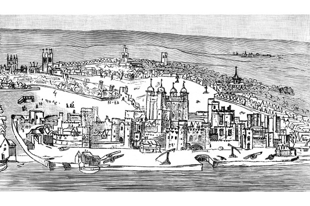 An illustration of the Tower of London, c1543, taken from 'A Short History of the English People' by John Richard Green (1893). (Photo by The Print Collector/Print Collector/Getty Images)