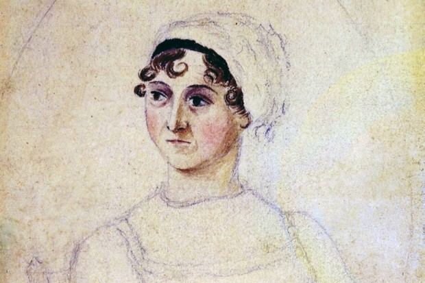 Colour portrait of Jane Austen