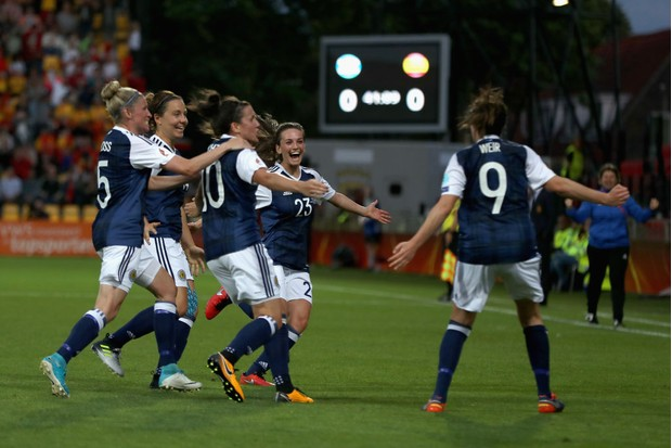 Scotland's women's football team first played the UEFA Women's competition in 2017 and will compete in the Women's Football World Cup for the first time in 2019. (Photo by Maja Hitij/Getty Images)